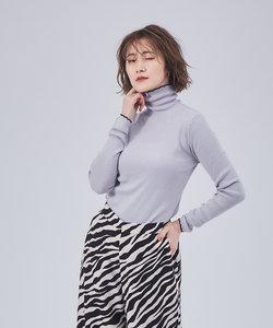 【WEB&一部店舗限定】配色タートルリブニット
