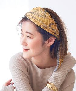 【9-22】チェーン柄プリーツスカーフ