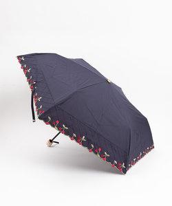 【晴雨兼用】★折りたたみ傘/チェリー刺繍