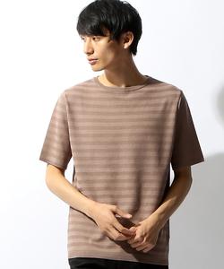 特殊編みボーダーTシャツ