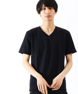 リンクスジャガードVネックTシャツ
