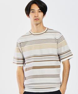 ジャガードマルチボーダーTシャツ
