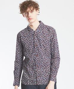 【Recency of Mine】バティック風スモールフラワープリントシャツ
