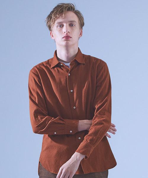 【Recency of Mine】メランジライトシャギーツイルシャツ