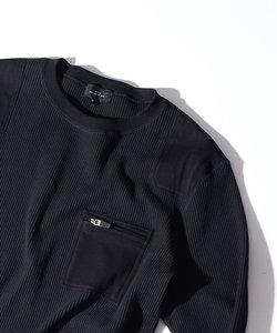 【Recency of Mine】スーパーストレッチベアワッフル ロングTシャツ
