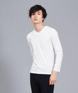 【展開店舗限定】シルケット天竺Vネック ロングTシャツ(ソリッドカラーシリーズ)