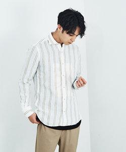 【Recency of Mine】リネンデラヴェモールストライプシャツ