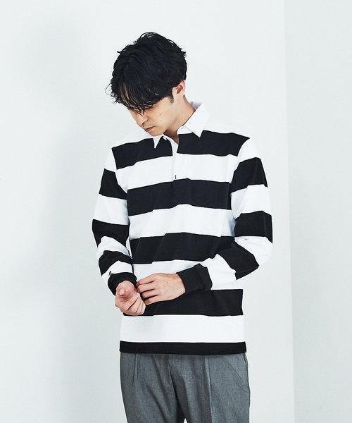 【BARBARIAN】ボーダー ラガーシャツ