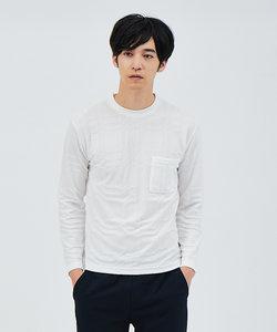 クロスジャガード 長袖 Tシャツ
