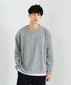 【MYSELF ABAHOUSE】フェイクモールニット ロングTシャツ