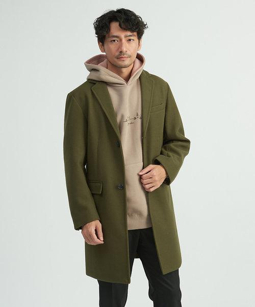 【展開店舗限定】ニットメルトンチェスターコート