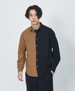 MINOTECH ストレッチバイカラーシャツ