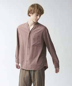 【MYSELF ABAHOUSE】トロミ キーネックシャツ