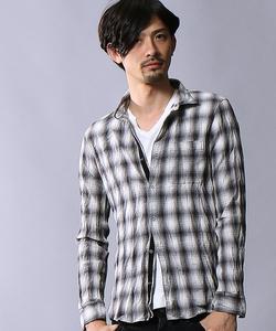 楊柳チェックシャツ