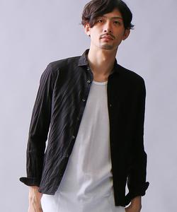 カラミメッシュ長袖シャツ