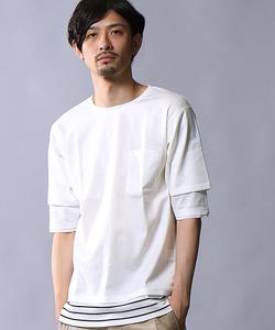 レイヤード7分袖Tシャツ