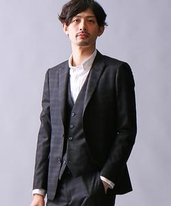 ブラックチェックジャケット