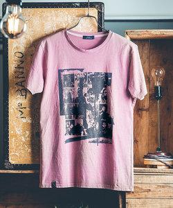 フォトコラージュクルーネックTシャツ