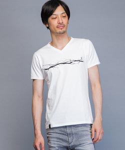 ワンラインVネックTシャツ