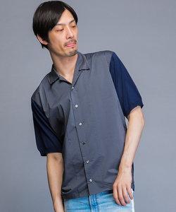 オープンカラーニットシャツ