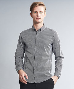 アルビニストライプストレッチドレスシャツ