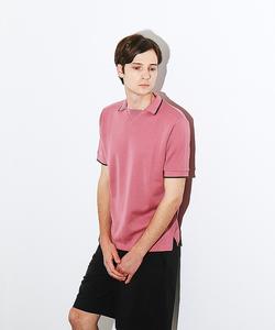 ガゼットニットポロシャツ