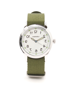 【marbolica】ミリタリーナイロンウォッチ/腕時計