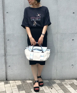【marbolica】メタリックフラップトートバッグ(M)