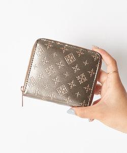 オリジナルファブリック 二つ折りラウンド財布