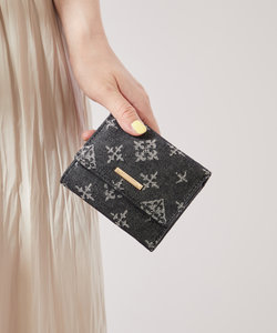 デニムジャガード三つ折財布
