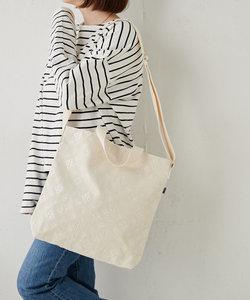 モノグラム刺繍2wayトートバッグ