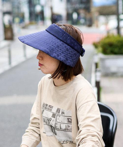 【UVカット】ナイロンジャガード サンバイザー