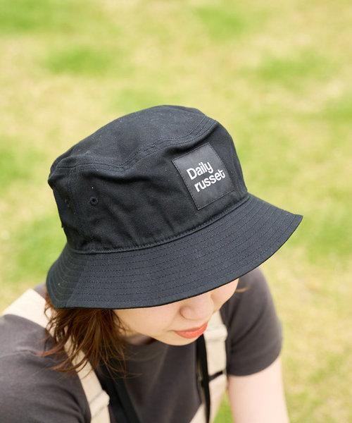 【紫外線対策】コットン ロゴバケットハット