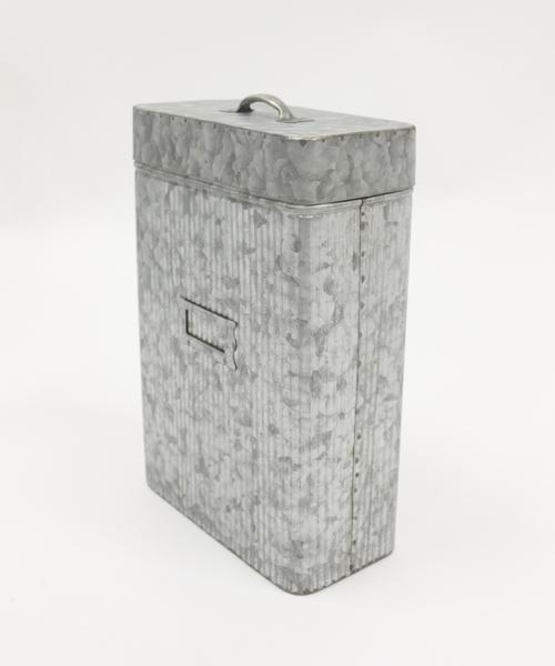 ≪Luana掲載商品≫ アンティークブリキレクタングル缶L