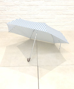 ペンシルストライプ折りたたみ雨傘