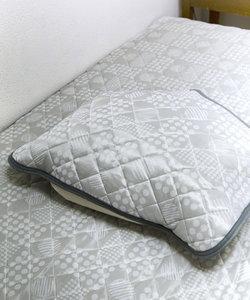 接触冷感ジャガード枕パッド
