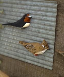 野鳥の会 木彫りマグネット