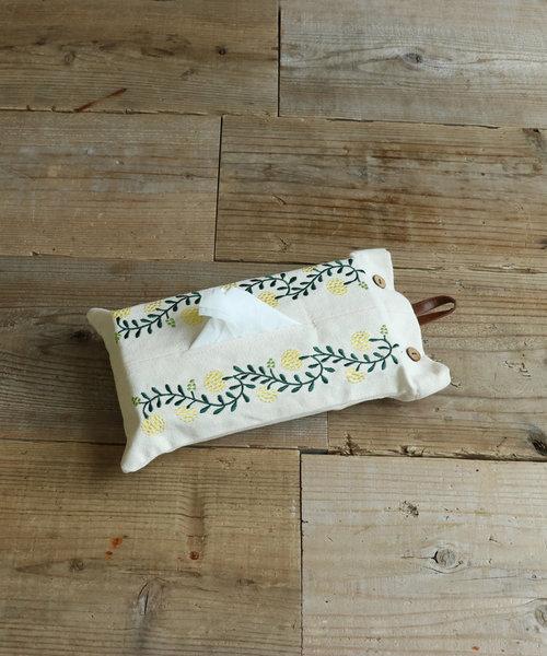 刺繍ティッシュボックスカバー