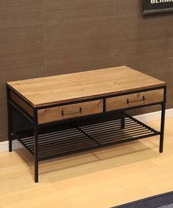 アイアンウッド2ドロワーテーブル