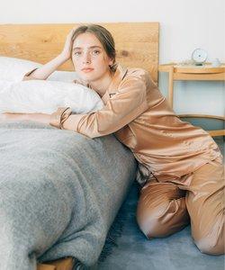 ストレッチサテンパジャマ セットアップ
