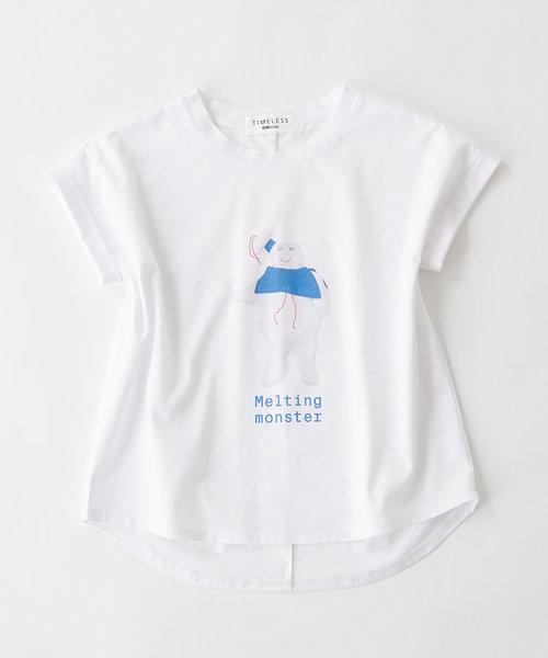 《長谷川 有里's キャラクター》Tシャツ Melting Monster
