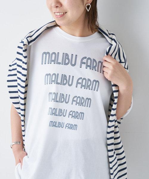 《ユニセックス》【MALIBU FARM】トライアングルプリントT
