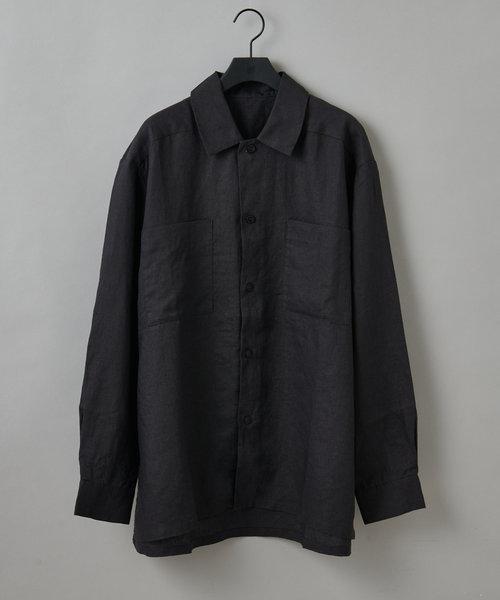 フレンチリネンミリタリーシャツ