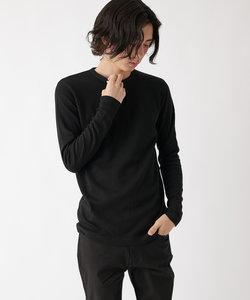 【WEB限定】ワッフルガゼット付クルーネック長袖Tシャツ