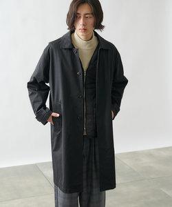 ツイル着脱中綿ベスト付ステンカラーコート