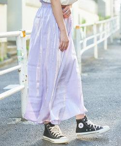 シャイニーサテンロングスカート