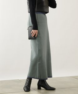 バイカラージャガードニットスカート(セットアップ可)