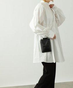 【WEB限定】ピンタックスリーブオーバーブラウス/ミニワンピース