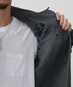 //刺繍製品染めシャツ