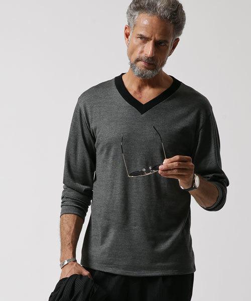 JH ウール VネックTシャツ